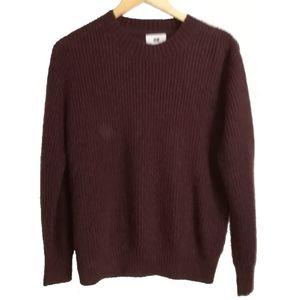 H&M Maroon Mohair Crewneck Sweater, size Medium